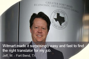 Customer testimonial from Jeff, W. - Fort Bend, TX.